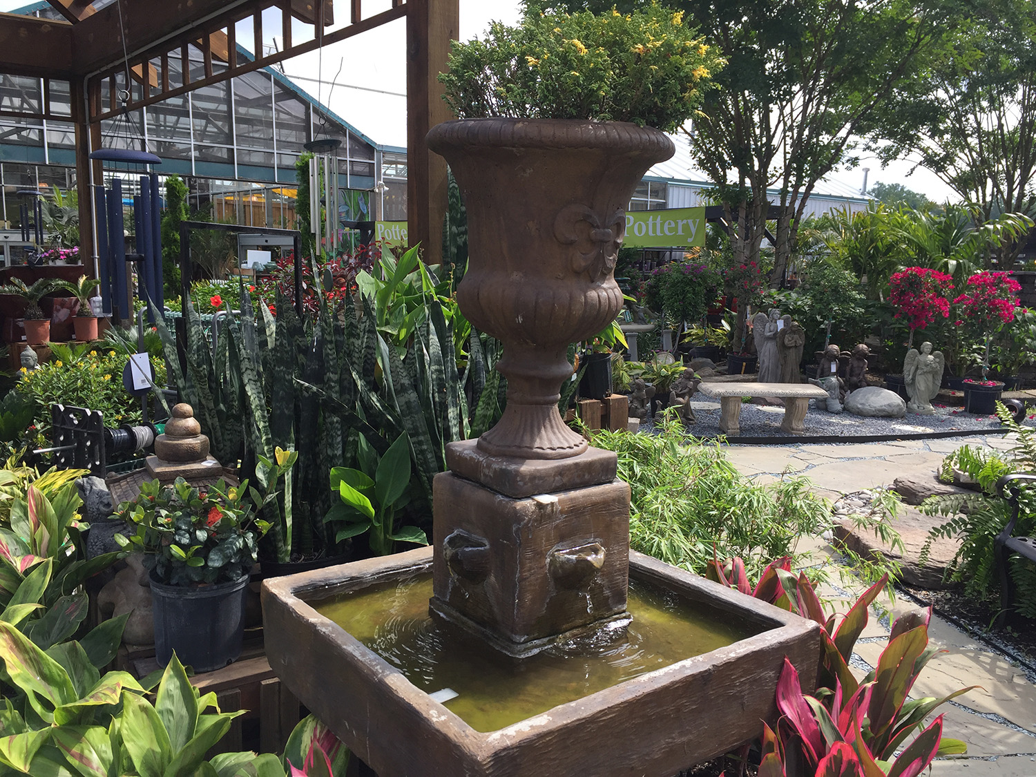 Outdoor Fountains for Sale at Patuxent Nursery