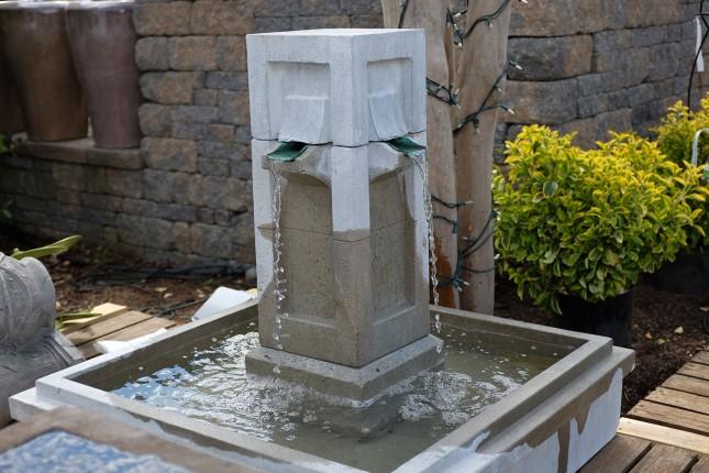 Square Stone Outdoor Fountain