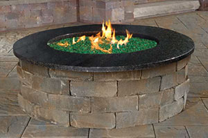 Cambridge Gas Burning Fire Pits available at Patuxent Nursery in Bowie, MD