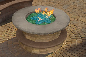 Cambridge Gas Fire Table available at Patuxent Nursery in Bowie, MD