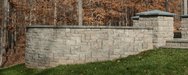 Eagle Bay Wallstone at Patuxent Nursery in Bowie, MD - eagle bay freestanding wall
