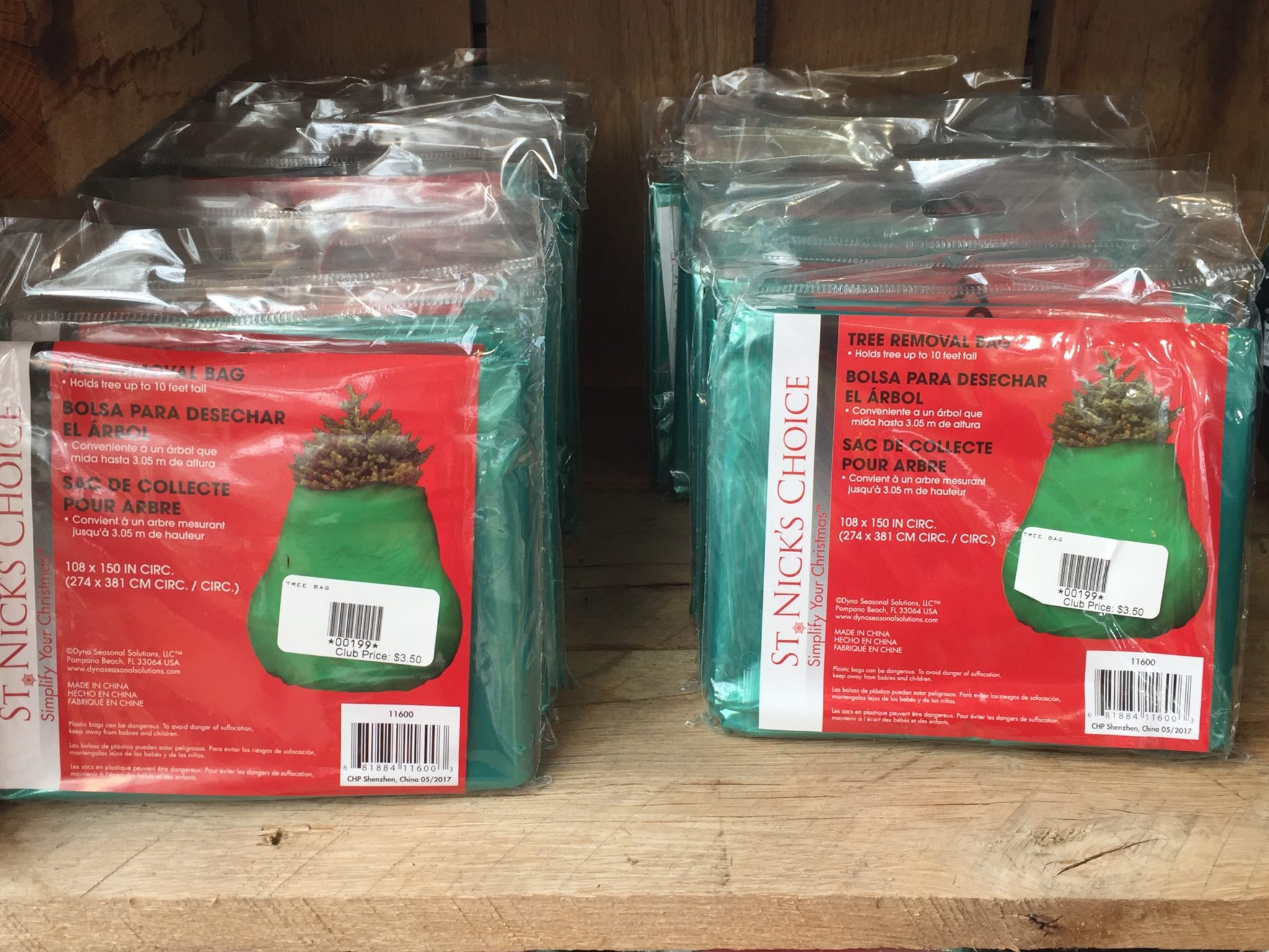 Christmas Tree Removal Bags at Patuxent Nursery
