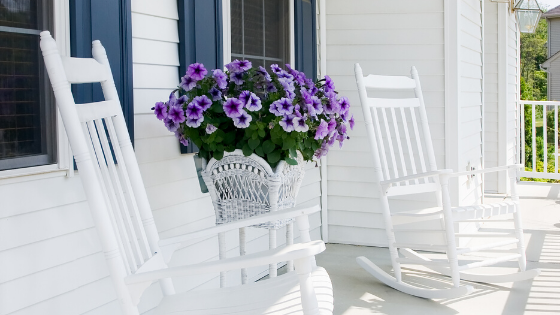 Annuals add a splash of character to your front porch