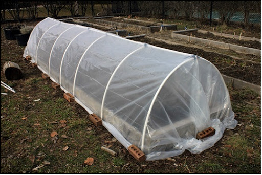 hoop house to protect your garden for the winter