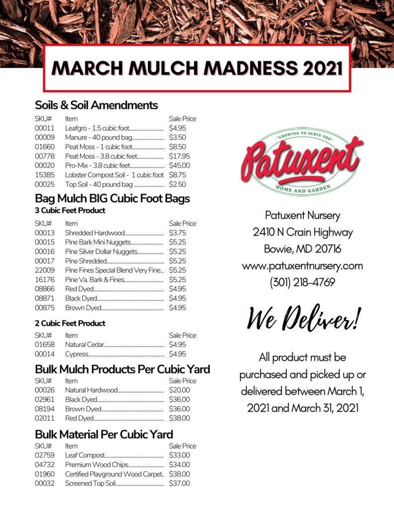 bulk mulch pricing