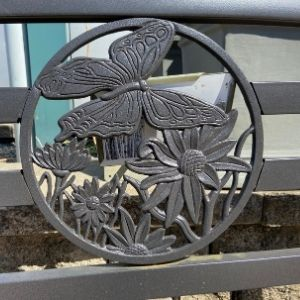 butterfly iron outdoor garden bench