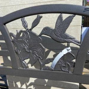 bird iron outdoor garden bench