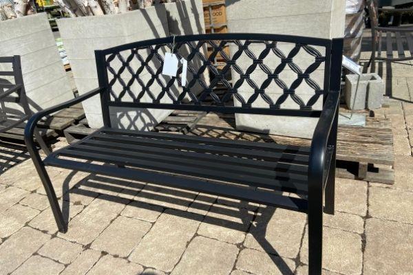 outdoor iron garden bench