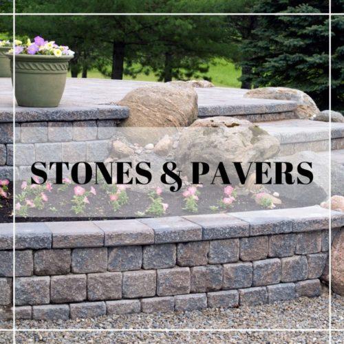 stoned border garden