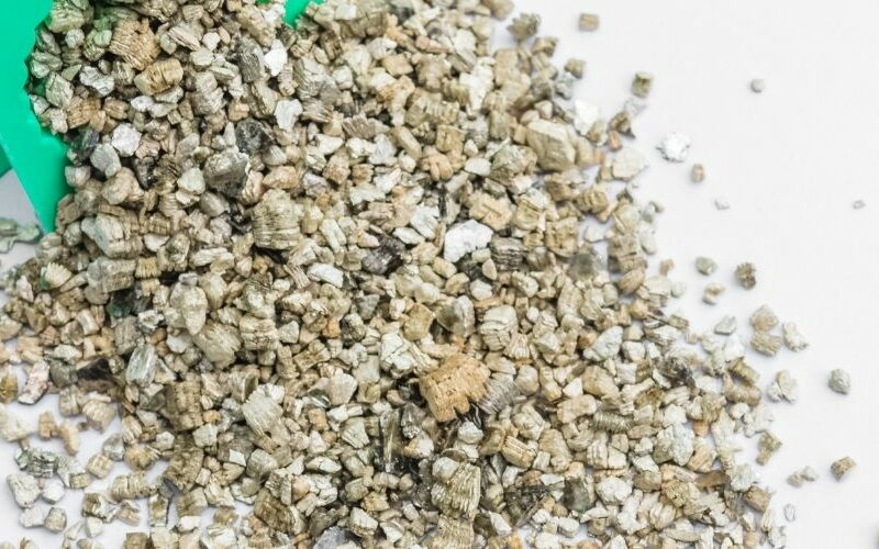 Vermiculite Grains on a table