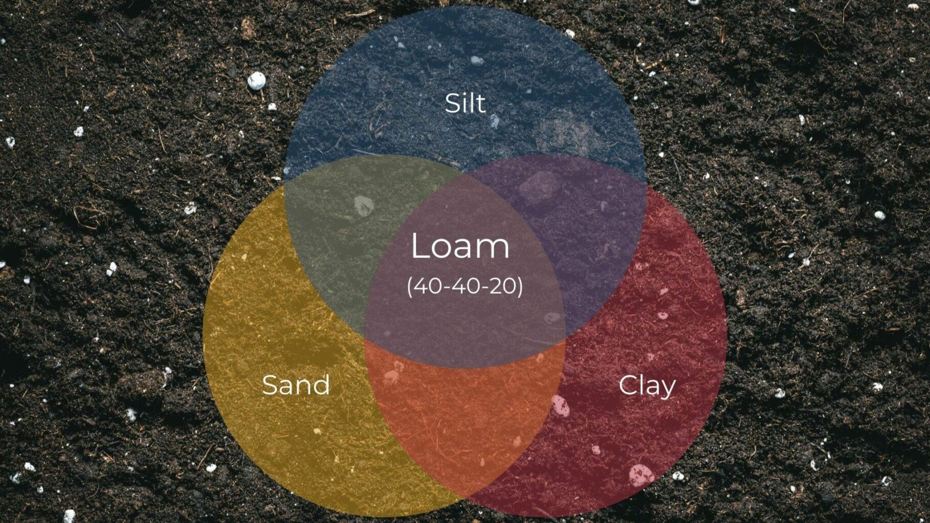 ven diagram of the three soil types making loam soil