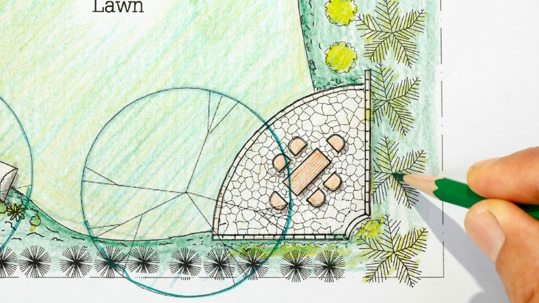Diagram planning where to place a tree
