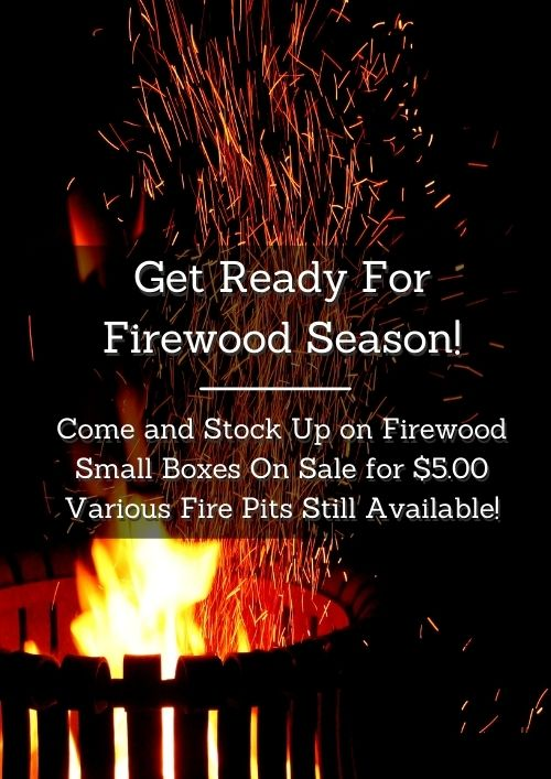 firewood season with big bonfire blazing