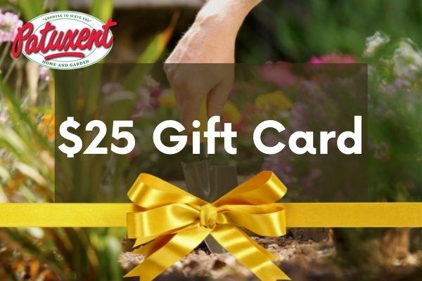25 gift card image gardener with trowel