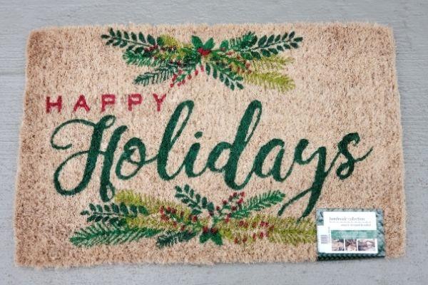 doormat happy holidays