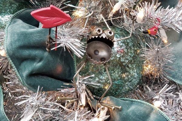 cute garden figure christmas ornament at patuxent nursery