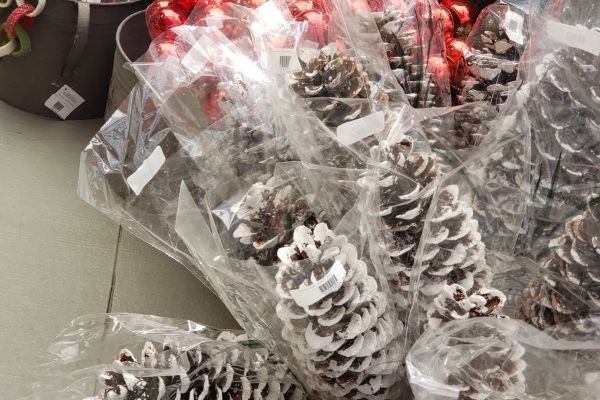 pine cones for christmas greenery decoration